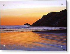 Earth Sunrise Sea Acrylic Print by Paul Meijering