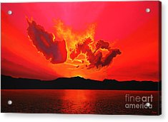 Earth Sunset Acrylic Print by Paul Meijering
