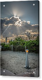 Earthly Light And Heavenly Light - Hdr Style Acrylic Print by Ian Monk