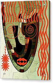 Earthy Woman Acrylic Print by Ben and Raisa Gertsberg