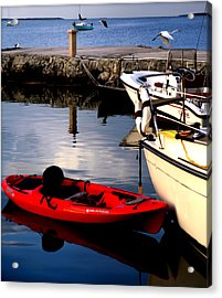 Ease Of The Keys Acrylic Print by Karen Wiles