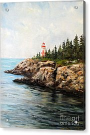 East Quoddy Head Light Acrylic Print by Lee Piper