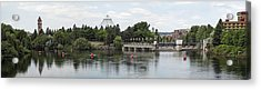 East Riverfront Park And Dam - Spokane Washington Acrylic Print by Daniel Hagerman