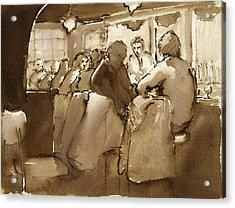 East Village Bar 1984 Acrylic Print by Thor Wickstrom