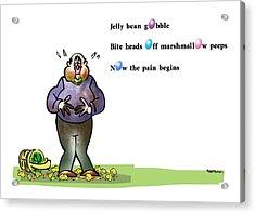 Easter Haiku Acrylic Print by Mark Armstrong