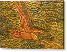 Eastern Meadowlark Acrylic Print by James McGarry Leather Artist