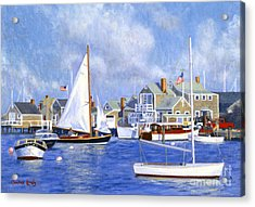 Easy Street Basin Blues Acrylic Print by Candace Lovely