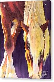 Eat Like A Horse Acrylic Print by Robert Hooper