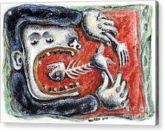 Eat Me - 2011 Acrylic Print by Nalidsa Sukprasert