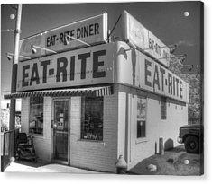 Eat Rite Diner Acrylic Print by Jane Linders
