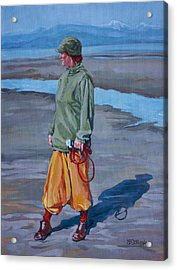 Ebb Tide Acrylic Print by Derrick Higgins