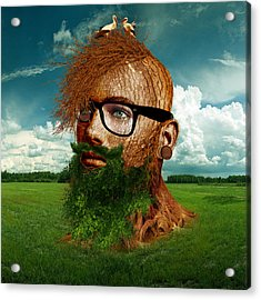 Eco Hipster Acrylic Print by Marian Voicu