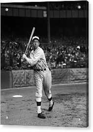 Eddie Collins Sr. Warm Up Swing Acrylic Print by Retro Images Archive