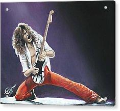 Eddie Van Halen Acrylic Print by Tom Carlton