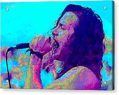 Eddie Vedder Acrylic Print by John Travisano
