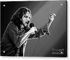 Eddie Vedder  Acrylic Print by Meijering Manupix