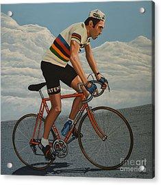 Eddy Merckx Acrylic Print by Paul Meijering