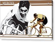 Eddy Merckx Acrylic Print by Sassan Filsoof