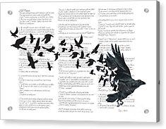 Edgar Alan Crow Acrylic Print by Sassan Filsoof