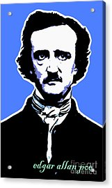 Edgar Allan Poe 20140914poster V1 Acrylic Print by Wingsdomain Art and Photography