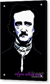 Edgar Allan Poe 20140914poster V2 Acrylic Print by Wingsdomain Art and Photography