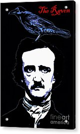 Edgar Allan Poe The Raven 20140914poster Acrylic Print by Wingsdomain Art and Photography
