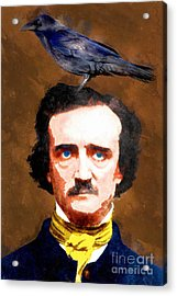 Edgar Allan Poe The Raven 20140914wc Acrylic Print by Wingsdomain Art and Photography