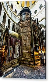 Edicule Of The Tomb Acrylic Print by Stephen Stookey