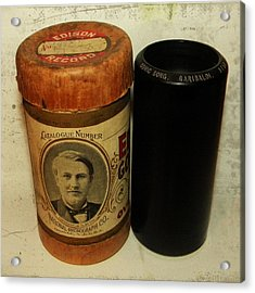 Edison Phonograph Cylinder 9750 Comic Song  Garibaldi  Acrylic Print by Bill Cannon