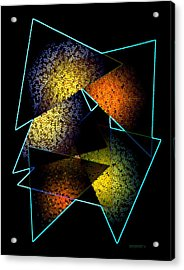 Effects Triangles Acrylic Print by Mario Perez