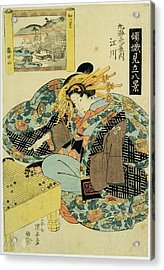 Egawa From The Maruebiya House, Illustration From The Series The Courtesans Personifying The Eight Acrylic Print by Utagawa Kuniyoshi
