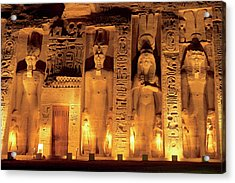 Egypt, Abu Simbel, The Temple Of Hathor Acrylic Print by Miva Stock