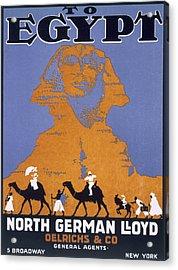 Egypt, Poster Advertising Norddeutscher Acrylic Print by English School