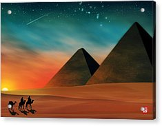 Egyptian Pyramids Acrylic Print by John Wills