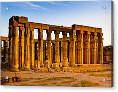Egyptian Temple Ruins In Luxor Acrylic Print by Mark E Tisdale