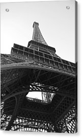 Eiffel Tower B/w Acrylic Print by Jennifer Ancker