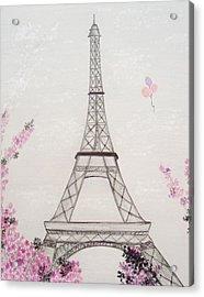 Eiffel Tower  Acrylic Print by Christine Corretti