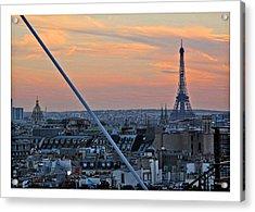 Eiffel Tower From Above Acrylic Print by Joan  Minchak