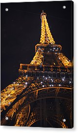 Eiffel Tower Paris France Illuminated Acrylic Print by Patricia Awapara
