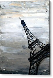 Eiffel Tower Silhouette Acrylic Print by Holly Anderson
