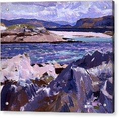 Eilean Annraidh From The North End Acrylic Print by Francis Campbell Boileau Cadell