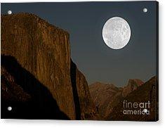El Capitan And Half Dome Acrylic Print by Mark Newman