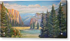 El Capitan  Yosemite National Park Acrylic Print by Remegio Onia