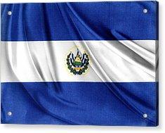 El Salvador Flag Acrylic Print by Les Cunliffe