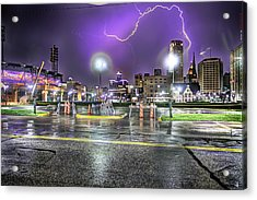 Electric Detroit  Acrylic Print by Nicholas  Grunas