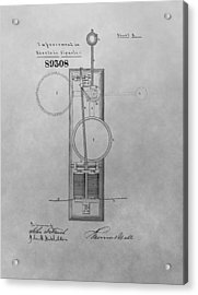 Electric Signal Patent Drawing Acrylic Print by Dan Sproul