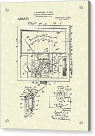 Electrical Meter 1919 Patent Art Acrylic Print by Prior Art Design