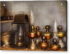 Electrician - A Collection Of Oil Lanterns  Acrylic Print by Mike Savad