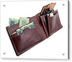 Electronic Wallet Acrylic Print by Sinisa Botas