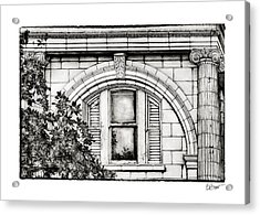 Elegance In The French Quarter In Black And White Acrylic Print by Brenda Bryant